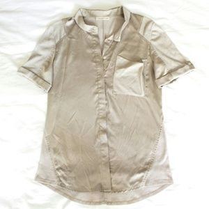 Coldwater Creek Tops - SOLD champagne gold button up