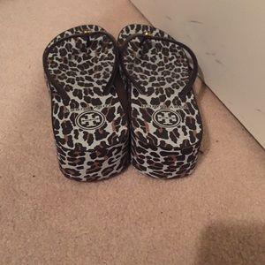 31d227392 Tory Burch Shoes - Tory Burch thandie wedge flip flop leopard Print