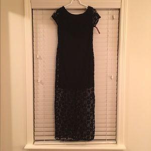 Xhilaration long black lace dress