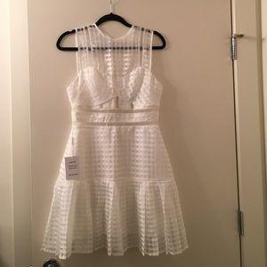 Authentic Self-Portrait White Paneled Dress