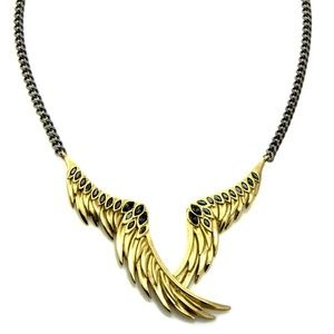 Colette Malouf Jewelry - Colette Malouf 14KGold plated Raven Wing Necklace