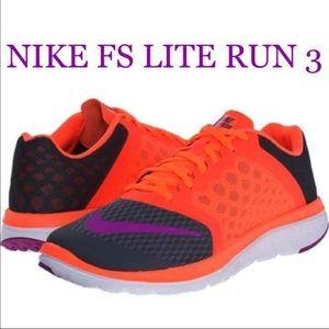 Nike Shoes - New Nike FS Lite Run 3 Dark Gray Hyper Orange