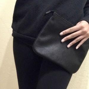 Olivia + Joy Handbags - Accepting offers! Leather black clutch Olivia +joy