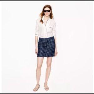 JCrew NWT PostCard mini Indio denim skirt