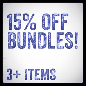 ✨🎉🌻15% Discount on Bundles of 3+!! 💋💫💕