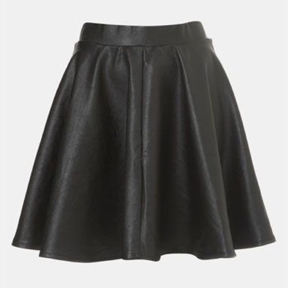 41 topshop dresses skirts topshop leather skater