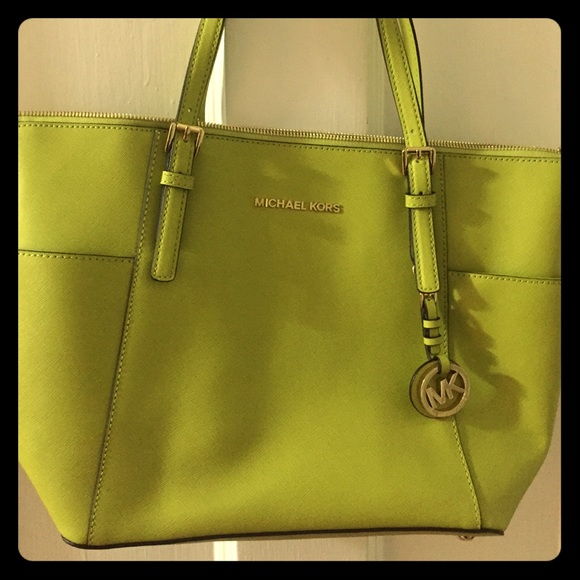 00a5067e3994 Michael Kors Jet Set Top-Zip Saffiano Leather Tote.  M_57848669bf6df521a9010599
