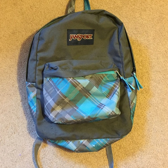 80% off Jansport Other - Jansport blue and gray plaid ...