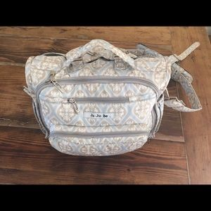 JuJuBe BFF diaper bag in powder icing.