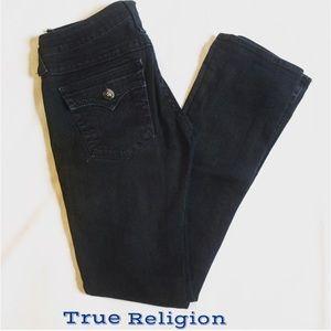 True Religion | Black Straight Leg Jeans Size 27