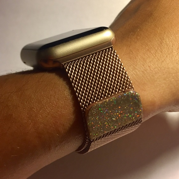 Accessories Rose Gold Band For Apple Watch 12 Unique Glitter Poshmark