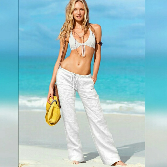 87% off Forever 21 Pants - Forever21 White Linen Beach Pant from ...
