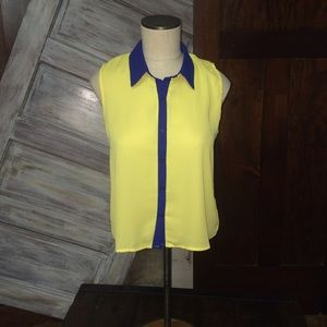 Event Yellow and Blue Tank Top