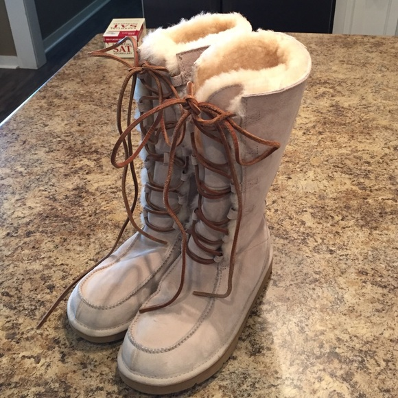 Tall Lace Up Ugg Winter Boots   Poshmark