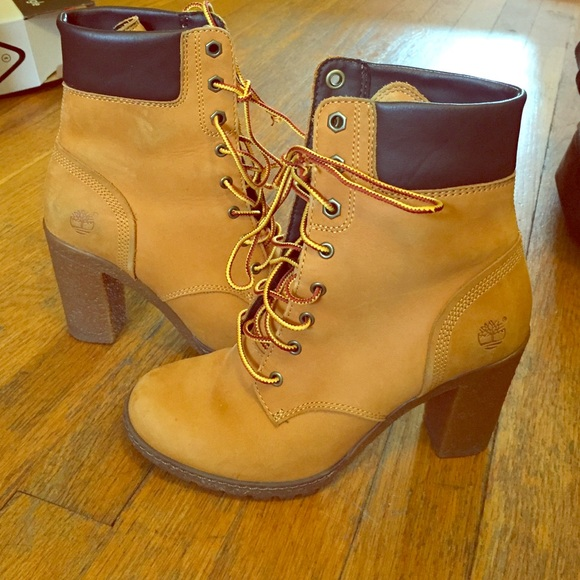High heeled Timberland booties