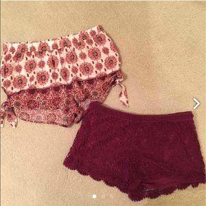 LA Hearts Parachute Shorts