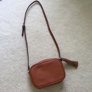 Old Navy Faux Leather Tassel Satchel Bag