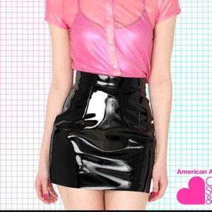 American Apparel Dresses & Skirts - American Apparel Black PVC Vinyl Mini Skirt