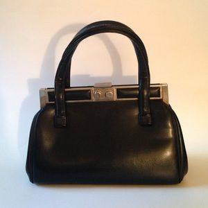 Vintage Black Purse w/ Ornamental Clasp