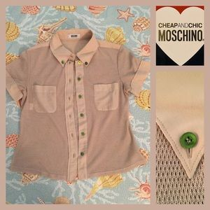 Moschino Tops - CHEAP AND CHIC MOSCHINO Button Down Woven Top