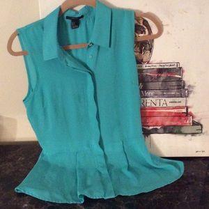 Sleeveless peplum blouse