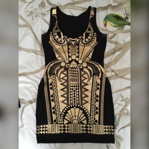 Black and Gold River Island dress