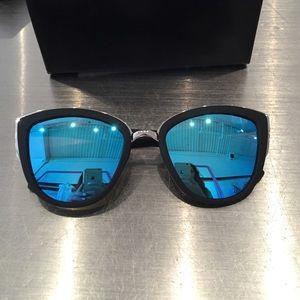 "Quay Australia ""My Girl"" blue mirrored sunglasses"