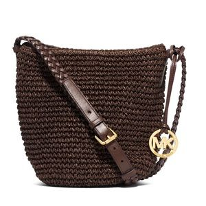 NWOT Michael Kors Raffia Braided Crossbody
