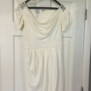 Maggy London White Embellished Dress