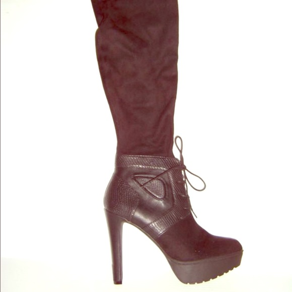 Jennifer Lopez - NEW JLO VIVAH Over the Knee Platform Boots SALE ...