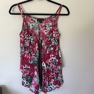 Material Girl Floral Zipper Top