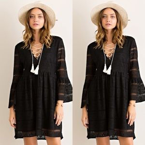 Dresses & Skirts - ❤HP❤Lace BabyDoll- BLACK ONLY