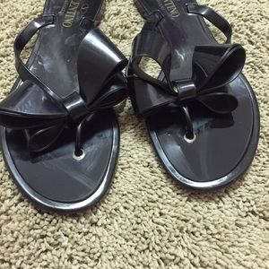 Valentino Shoes - Valentino couture bow flip flops