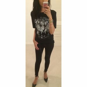 3.1 Phillip Lim Tops - 3.1 Phillip Lim for Target Black Animal Graphic T