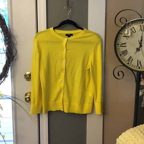 67% off GAP Sweaters - Gap Yellow Button up Cardigan from ...