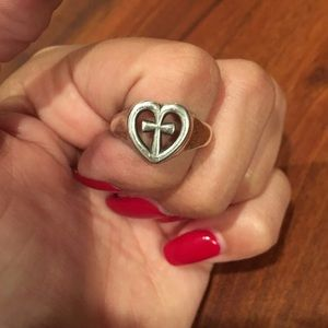 James Avery Accessories - James Avery heart cross ring 8.5