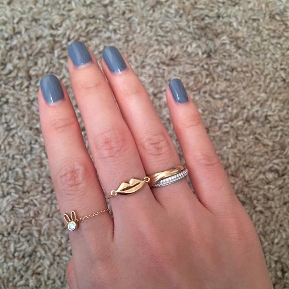 Jewelry Price Dropmejuri 14k Solid Gold Lip Chain Ring 6 Poshmark
