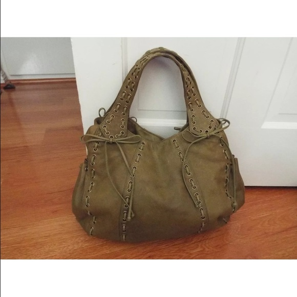 84% off Kooba Handbags - Kooba Marcelle olive green leather hobo ...