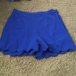Blue scalloped Shorts from Altar'd State