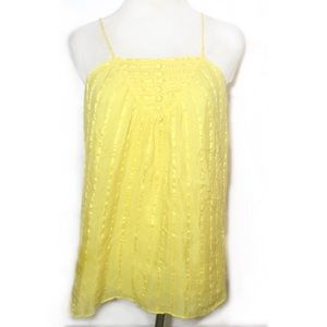 Milly Tops - MILLY YELLOW SILK CAMISOLE SIZE 4