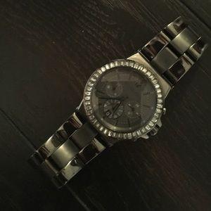 Michael Kors Gunmetal- Swarovski Watch