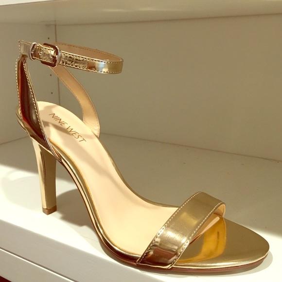 1a78745be929 Nine West Aniston Metallic Gold Heel