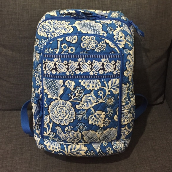 04bad539c4c Vera Bradley Laptop Backpack in Blue Lagoon. M 578588397f0a054eaa02805a