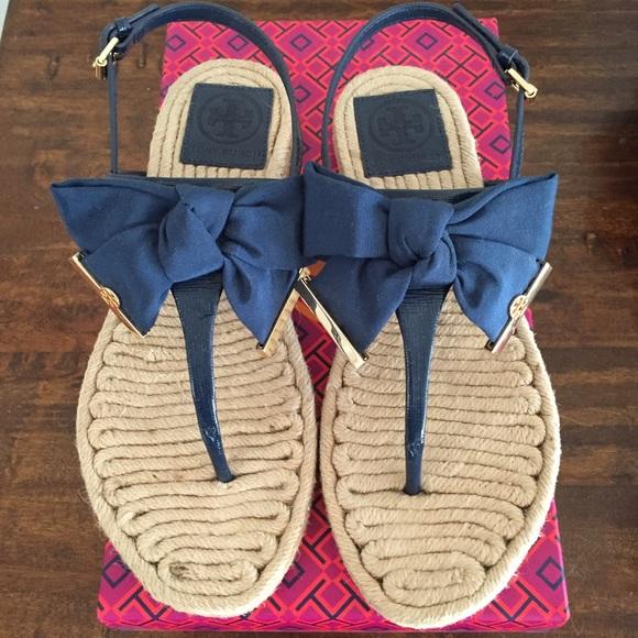 75db765ef42 Tory Burch Penny Flat Thong Bow Sandal. M 57858a3d99086aa4980285c5