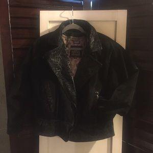 Vintage suede/leather coat