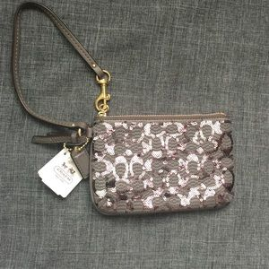 Coach Handbags - COACH Sequined Wristlet