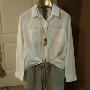 Tops - White Button-up shirt  nwot
