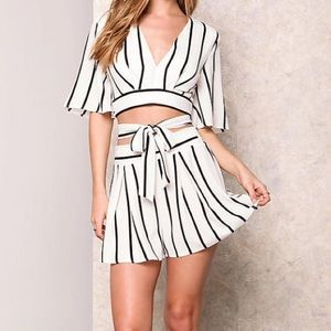 Pinstriped 2 piece co ord set
