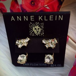 NWT Anne Klein Crystal Ear Floaters