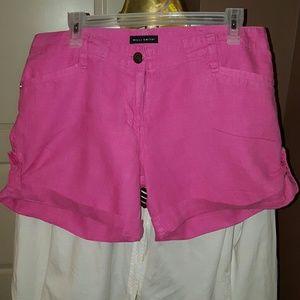 Pants - SHORTS Willi Smith linen shorts (hot color)